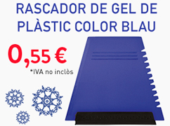 Rascador de gel de plàstic color blau