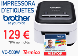 Etiquetadora a color BROTHER VC-500W