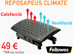 Reposapeus Fellowes Climate. Escalfor i ergonomia