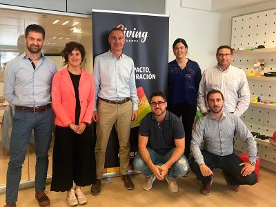 Visita comercial a l'empresa de merchandising Giving Europe